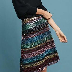 NWT ANTHROPOLOGIE Sequined Soirée Skirt